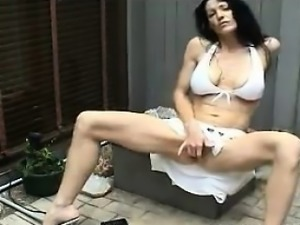 Horny MILF Rubs Her Vagina And Squirts