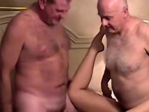 Old perverts fucking hot housewife