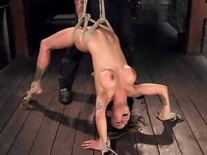 busty milf gets tied up and bonded