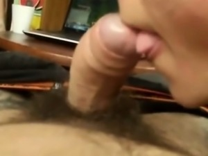 Sensual Amateur blowjob and Cumshot