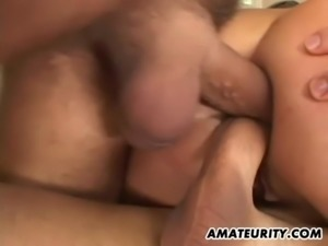 Amateur girlfriend double anal penetration with creampie free