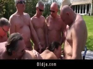 8 old dicks for Anita's holes free