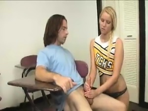 Annoyed Blonde Teen Decides To Show Perverted Guy Her Skills