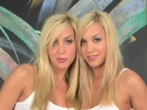 Beautiful Twins, Sexy twin tease.