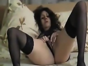 Mature Russian Woman Wearing Lingerie