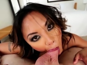 Pov fetish asian deepthroats and swallows cum