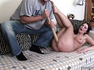 Redhead whore Stella Red is in the mood for fucking and gives it to horny...