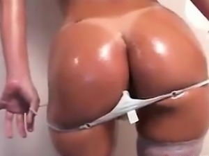 Brazilian Girl Teasing Her Ass And Pussy