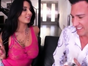 Squirting assfucked eurobabe seduces pals man