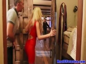 Beautiful busty blonde fucks her horny ex free