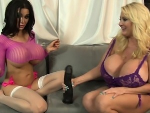 Busty Amy andamp, Kayla dirty talk and show off their sexy
