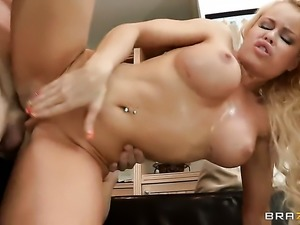 Johnny Sins has unforgettable anal sex with Nikki Delano with huge melons...