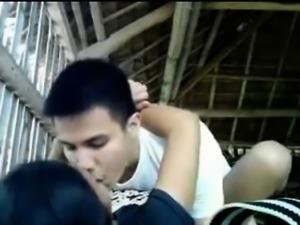Horny Amateur Students Filming Public Sex