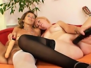 Two amateur moms, skinny mom has a hairy pussy the other