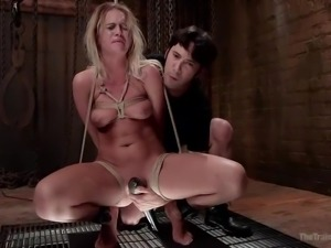 blonde babe gets trained and fucked