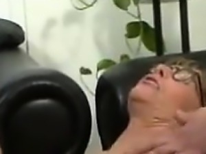German Granny in blue stockings engaged  - Fuck from MILF-ME