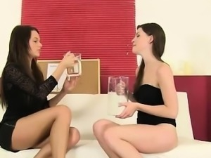 Daphne and Zena having fun with hot piss