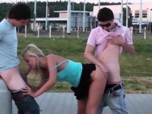 Teen PUBLIC sex street gangbang orgy in broad daylight