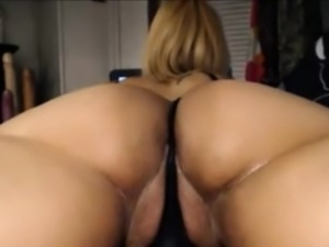 Big White Ass close up On Webcam