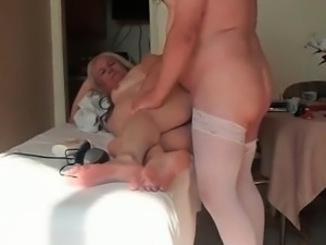 Granny gets cock in the ass