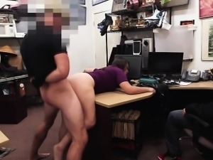 A Brunette gives a fuck as a punishment