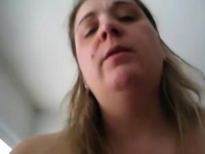 BBW MILF with big tits riding cock - POV