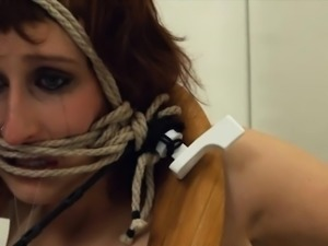 sleek BDSM toilet slut fucked anally hard