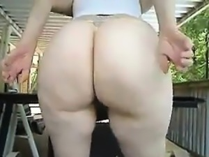 Big White Behind Teasing