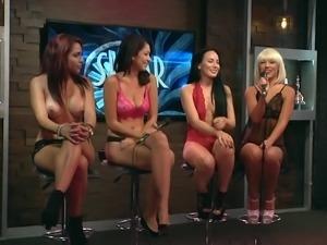 horny girls undress at morning show @ season 15 ep. 733