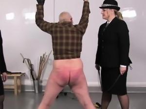 Police femdoms torment speadeagle sub