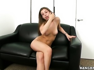 Incredible brunette Jennifer Blaze on the casting couch