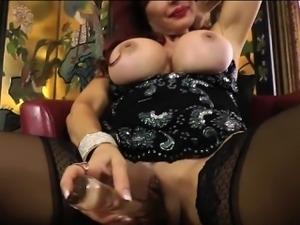 Sexy Vanessa Big Tits Hanging in Black Dress