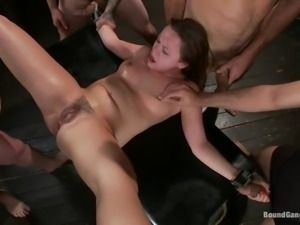 lusty kaci gets slammed by gang