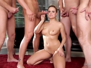 lustful bitches get pounded by gang @ 4 on 1 gang bangs