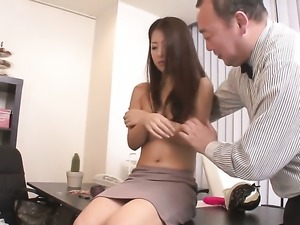 Japanese woman Satomi Suzuki with perfect natural boobs
