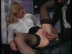 My Sexy Piercing MILF in stockings fucked in pierced pussy