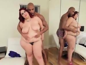 BBW redhead loves black cock