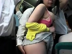 AsianSexPorno.com - Cute japan girl on bus