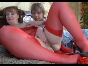BBW Mature with young boy goes anal