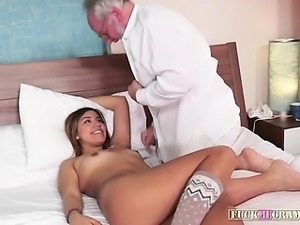 Tricia gets handled right by gramps