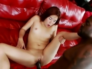 Black Cock Tight Pussy Stretching Leah Cortez