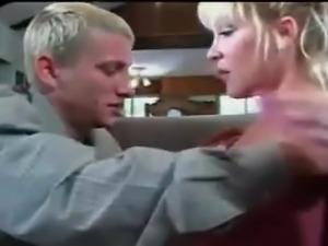blonde mom and boy