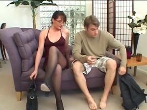 MILF getting cum shot after fucking