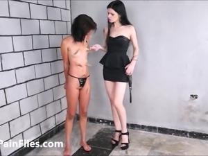Brazilian slave Pollys lesbian BDSM and electro torture