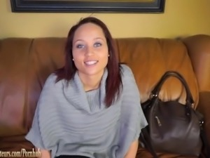 Hot Girls on casting couch go lesbian with toys