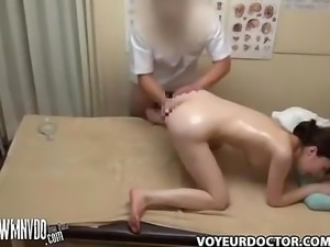 Spycam Masseuse Seduces Patient, spycam massa