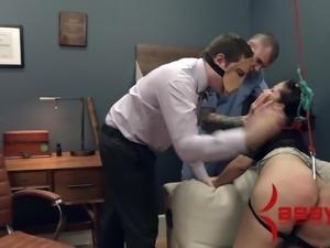 Alexa Leon Extreme Bondage Blowjob