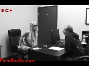 Casting another desperate skinny porn hooker takes it up the