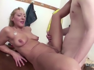MILF Teacher Fuck Young Boy after Sport Lesson in School