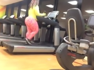 Ass working out in gym
